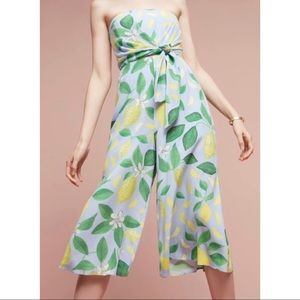 Women's Clothing Clothing, Shoes & Accessories Useful Nwt $148 Anthropologie Maeve Lemon Grove Strapless Jumpsuit Sz 0 Petite